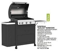 Gasbarbecue stella 3221 barbecook-Barbecook