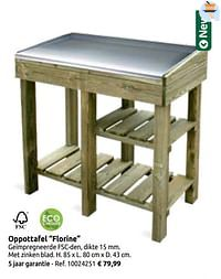 Oppottafel florine-Huismerk - Brico