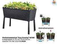 Vierkantemetertuin easy growing keter-Keter