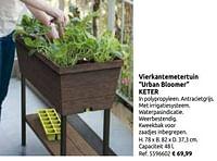 Vierkantemetertuin urban bloomer keter-Keter