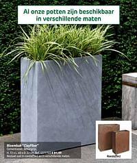 Bloembak clayfiber-Huismerk - Brico