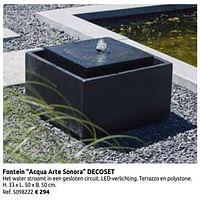Fontein acqua arte sonora decoset-Huismerk - Brico