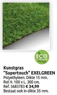 Kunstgras supertouch exelgreen-Exelgreen