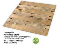 Tuintegel in vurenhout laura-Huismerk - Brico