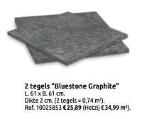2 tegels bluestone graphite-Huismerk - Brico