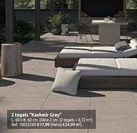 2 tegels kashmir grey-Huismerk - Brico