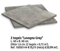2 tegels lavagna grey-Huismerk - Brico