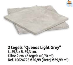 2 tegels quenos light grey