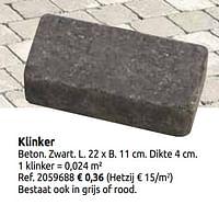 Klinker-Huismerk - Brico