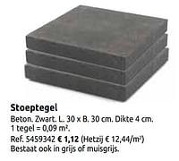 Stoeptegel-Huismerk - Brico