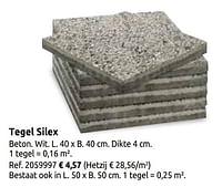 Tegel silex-Huismerk - Brico