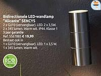 Bidirectionele led-wandlamp alicante sencys-Sencys