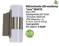 Bidirectionele led-wandlamp jena sencys-Sencys