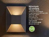 Bidirectionele led-wandlamp morino eglo-Eglo