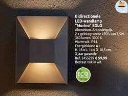 Bidirectionele led-wandlamp morino eglo