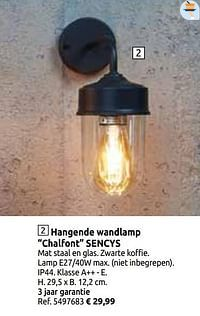 Hangende wandlamp chalfont sencys-Sencys