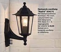 Opstaande wandlamp madrid sencys-Sencys
