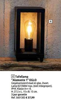 Tafellamp alamonte 1 eglo