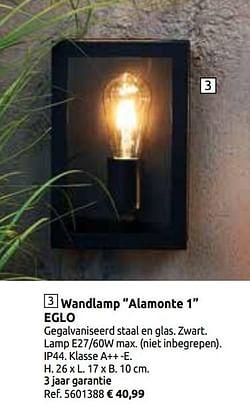 Wandlamp alamonte 1 eglo