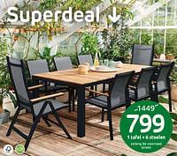 1 tafel + 6 stoelen-Huismerk - Brico