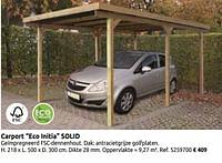 Carport eco initia solid-Solid