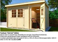 Tuinhuis 254 gr2 weka-Weka