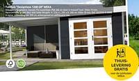 Tuinhuis designhaus 126b gr weka-Weka