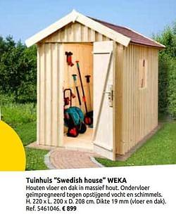 Tuinhuis swedish house weka