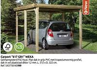Carport 617 gr1 weka-Weka