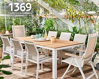 1 tafel + 6 stapelbare stoelen-Central Park
