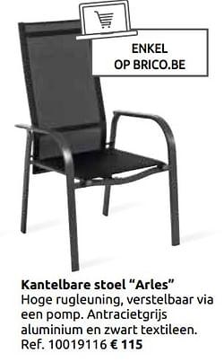 Kantelbare stoel arles