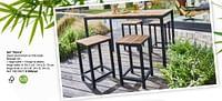 Set vence zwart aluminium en fsc-teak-Huismerk - Brico