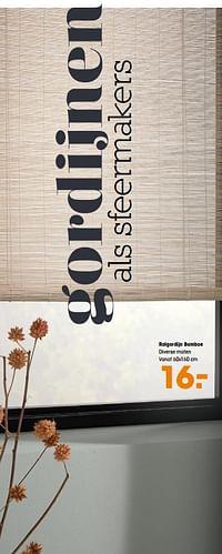 Rolgordijn bamboe-Huismerk - Kwantum