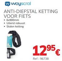 Anti-diefstal ketting voor fiets-Wayscrall