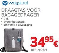 Draagtas voor bagagedrager-Wayscrall