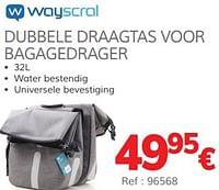 Dubbele draagtas voor bagagedrager-Wayscrall