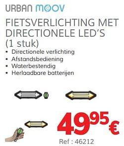 Fietsverlichting met directionele led`s