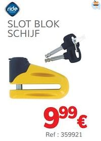 Slot blok schijf-Ride