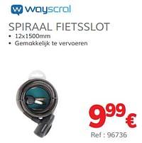 Spiraal fietsslot-Wayscrall
