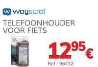 Telefoonhouder voor fiets-Wayscrall