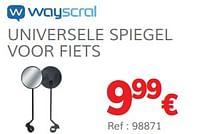 Universele spiegel voor fiets-Wayscrall