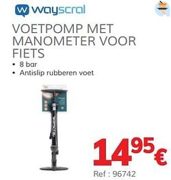 Voetpomp met manometer voor fiets