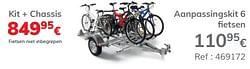 Aanpassingskit 6 fietsen kit + chassis