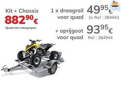 Draagrail voor quad kit + chassis