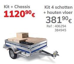 Kit 4 schotten + houten vloer kit + chassis