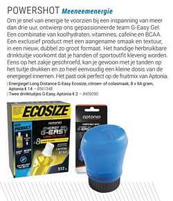 Energiegel long distance g-easy ecosize, citroen- of colasmaak