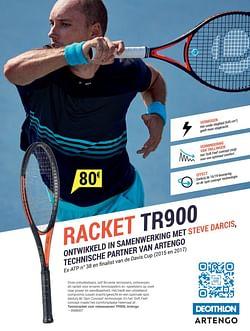 Tennisracket volwassenen tr 900 artengo