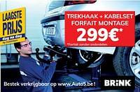 Trekhaak + kabelset forfait montage-Huismerk - Auto 5