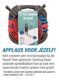 Tumball junior met zachte rubberen bal, paal en twee rackets-Huismerk - Decathlon