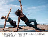Lang naadloos sporttopje voor dynamische yoga, domyos-Domyos